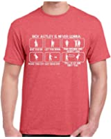 Crazy Happy Tees Men's Rick Astley Is Nerver Gonna a Give You Up... T-shirt Red