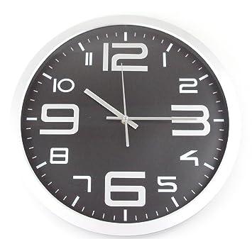 Amazon.de: Wanduhr 35cm große Zahlen Küchen Uhr Bahnhofsuhr Quarz ...