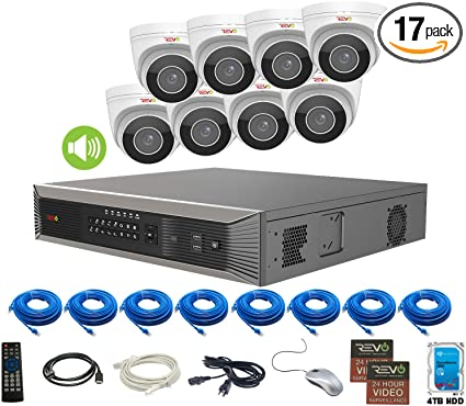 Amazon com : Revo America Ultra Plus 16 Ch  4TB HDD IP NVR Video