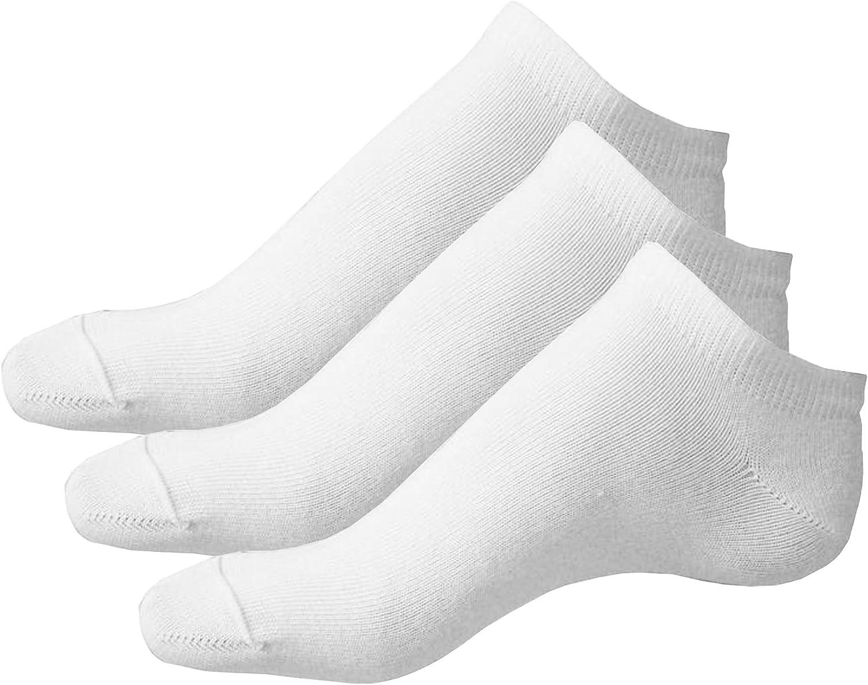 6x Children Cotton Trainer Liner Ankle Socks Shoe Size:UK 12.5-3.5 Kids//Boys//Girls Colour:White