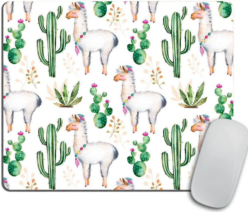 Llama Love Desk Set, Mouse Pad Cacti, Desert, Alpaca Mousepad, Desk Accessories, Llama Gift, Cubicle Decor, Office Gift