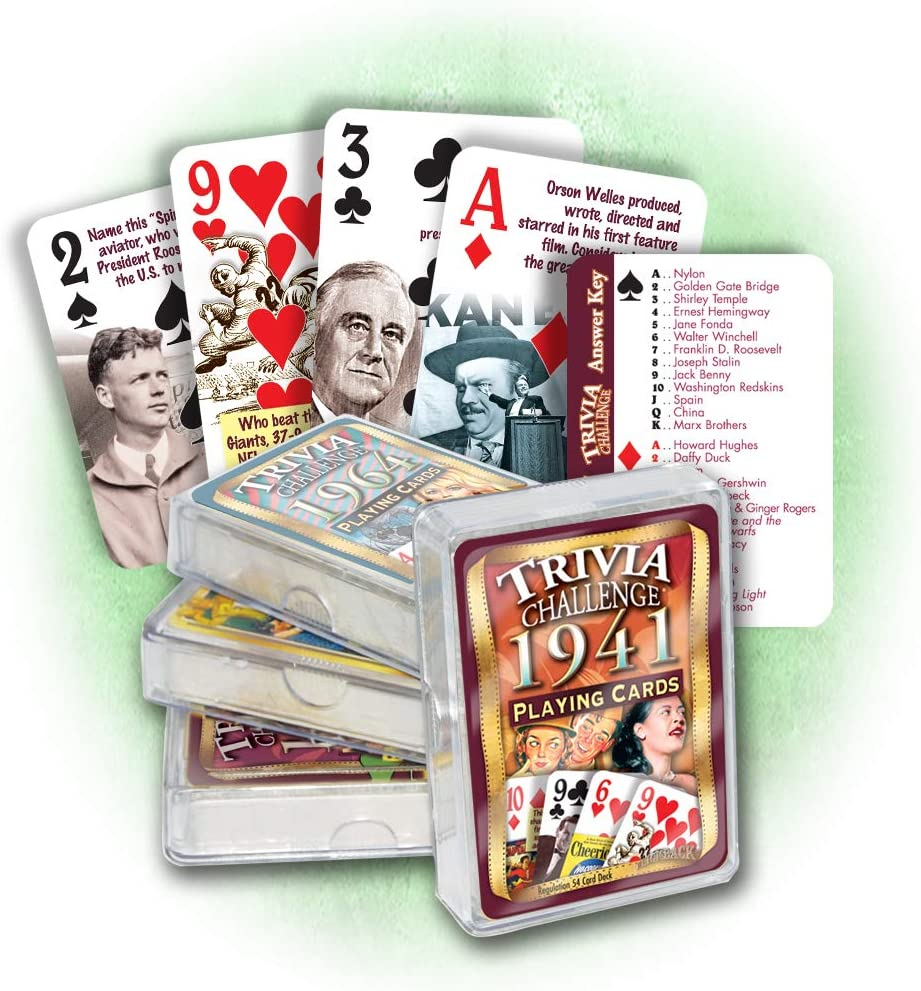 80th Birthday 1940 Trivia Playing Cards