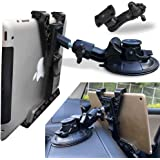 Randconcept 3-in-1 Tablet Holder Car Air Vent Mount - [ Strong Suction Cup Version ] Universal Dashboard Windshield Cradle fo
