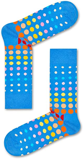 Mens HS by Happy Socks 4-pack Patterned Crew Socks in Gift Box