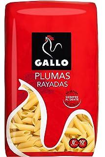 Pastas Gallo - Plumas Rayadas Paquete 500 g - , Pack de 6