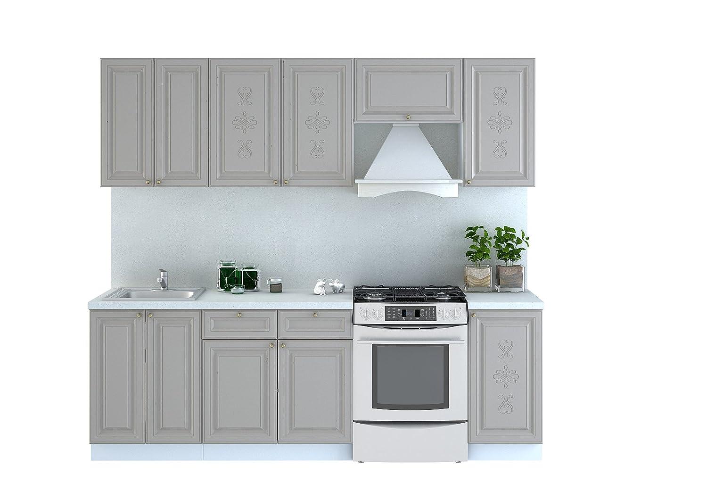 Cocina Versailles 240 cm, montaje en línea de cocina Cocina Cocina ...