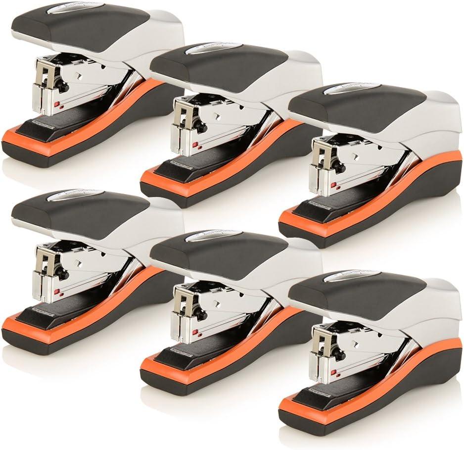 Swingline Stapler 40 Sheet Capacity Optima 40 87842 Low Force Orange//Silver//Black Compact Desktop Stapler