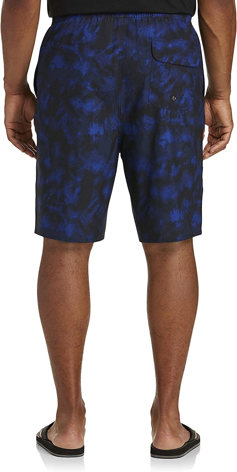 Rochester by DXL Big and Tall Washed Out Swim Trunks