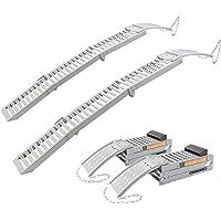 2 x Rampe de Chargement Rampe d'accès Rails d'accès Rampes Acier 1600 kg pliable