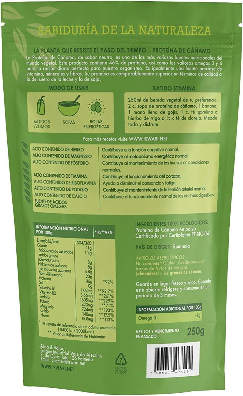 Iswari Proteina De Cañamo Superalimento 250Gr; Bio 1 Unidad ...