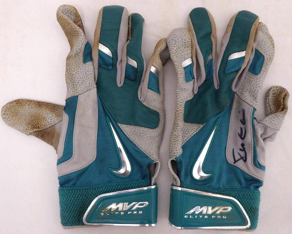 Robinson Cano Autographed Game Used Nike Batting Gloves Signed Cert 138704 MLB Game Used Gloves