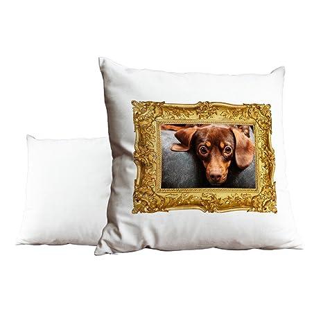 Perro salchicha Perro Animal blanco cojín almohada 098 ...