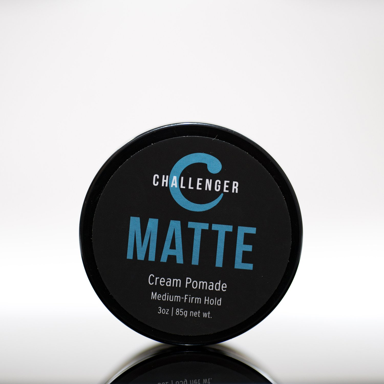 Matte Cream Pomade - Challenger 3oz - Medium Firm Hold - Water Based, Clean & Subtle Scent, Travel Friendly. Men's Hair Wax, Fiber, Clay, Paste, Styling Cream All In One by Challenger (Image #1)