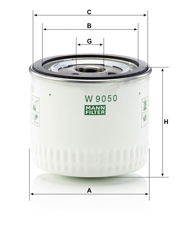 F/ür PKW Original MANN-FILTER /Ölfilter W 9050