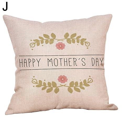 yongqxxkj - Funda de cojín con Mensaje Happy Muttertag Ich ...