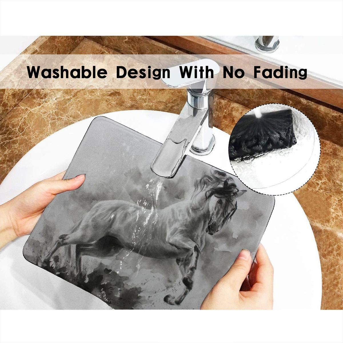 Aoccy Acrylic Painting of Horse On Canvas Gaming Mouse Pad 7.9 X 9.5 in Non-Slip Rectangular Gaming Mouse Pad Anti-Slip Mouse Pad