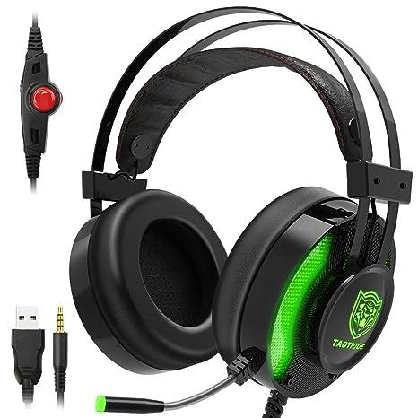 Amazon.com: JINDUN - Auriculares de diadema para videojuegos ...