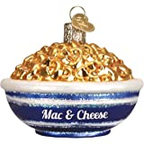Old World Christmas Various Foods Glass Blown Ornaments for Christmas Tree, Bowl of Mac & Cheese