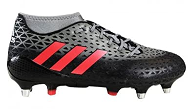 adidas Adizero Malice SG, Chaussures de Rugby Homme, Rouge