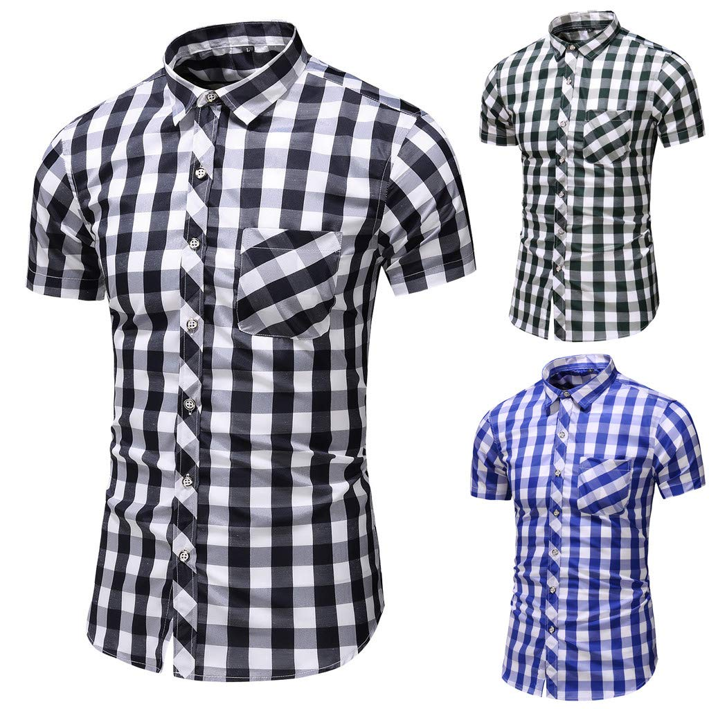 Men Plus Size Shirt Mens Shirt Classic Men Gifts Fashion Short Sleeve Shirt Casual School Boys Tops Blouse
