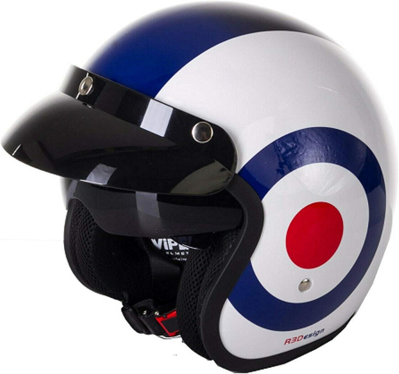 Open Face Motorcycle Helmet VIPER RSV06 Touring Motorbike Scooter Rider Adventure Drop Down Visor Bike Riding Jet Helmet Target Union Jack