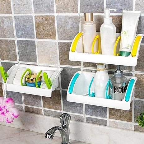 Amazon.com: Binmer(TM) Home Bathroom Plastic Shower Storage Rack ...