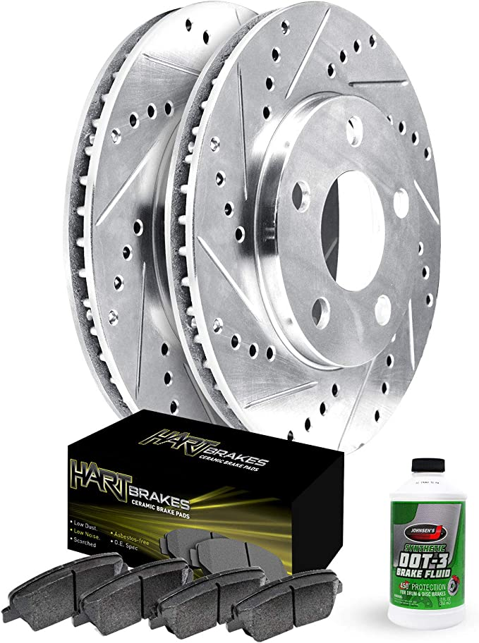 Power Stop K4837 Front Brake Kit with Drilled//Slotted Brake Rotors and Z23 Evolution Ceramic Brake Pads