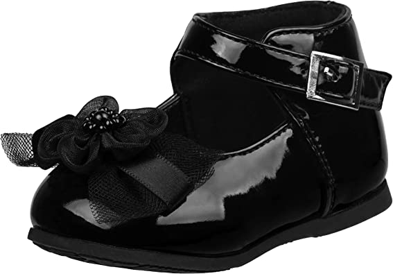 Infant, Toddler Josmo Baby Girls Patent Dressy Shoe Bow