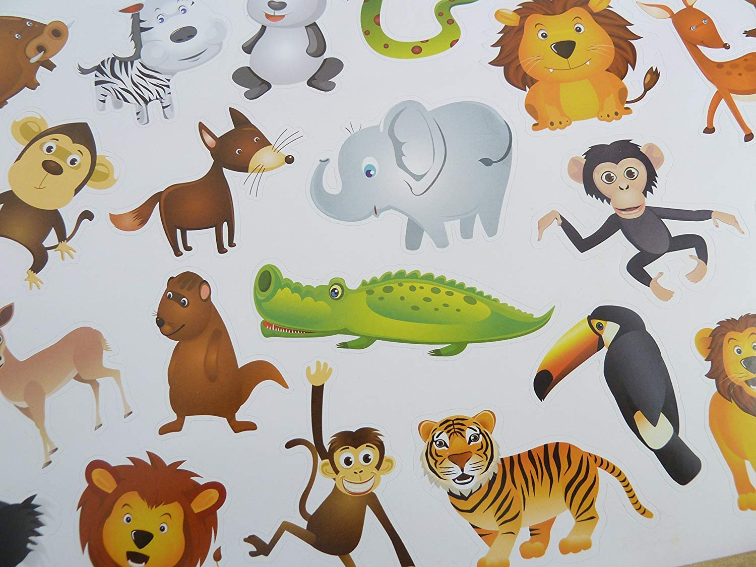 Childrens Kids Height Measuring Chart Wildlife Animal Themed WITH FREE EXTRA STICKERS FROM MINILABEL