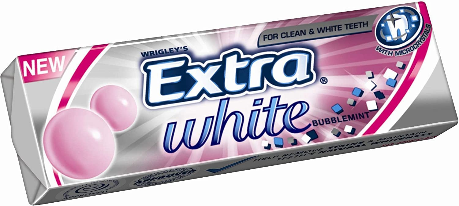 Wrigley S Extra Bubblemint Chewing Gum 30 Packets Full Box Amazon Co Uk Grocery