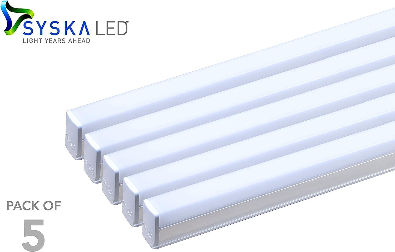 Syska SSK-T5-18W 18-Watt LED Tube Light (Pack of 5, Cool Day Light)
