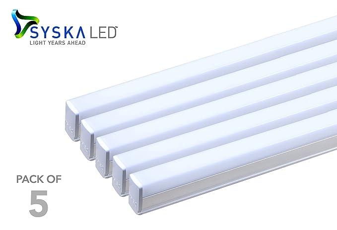 new product 6752c 196af Syska SSK-T5-18W 18-Watt LED Tube Light (Pack of 5, Cool Day Light)
