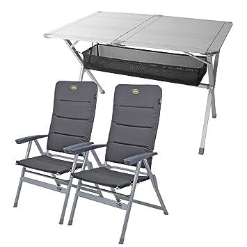 """camping Juego de muebles mesa + 2 sillas """"Grenoble"""", 1 x"""