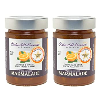 Orange & 10 Year Single Malt Whisky: Award Winning Marmalade (2 pack)