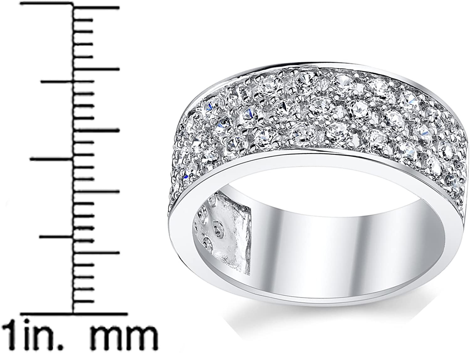 Details about  /Mens 925 Sterling Silver  Round CZ Luxury Engagement Wedding Band Ring Size 7-12
