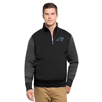 4913d71334a5  47 NFL Carolina Panthers Men s Triple Coverage 1 4-Zip Pullover Fleece