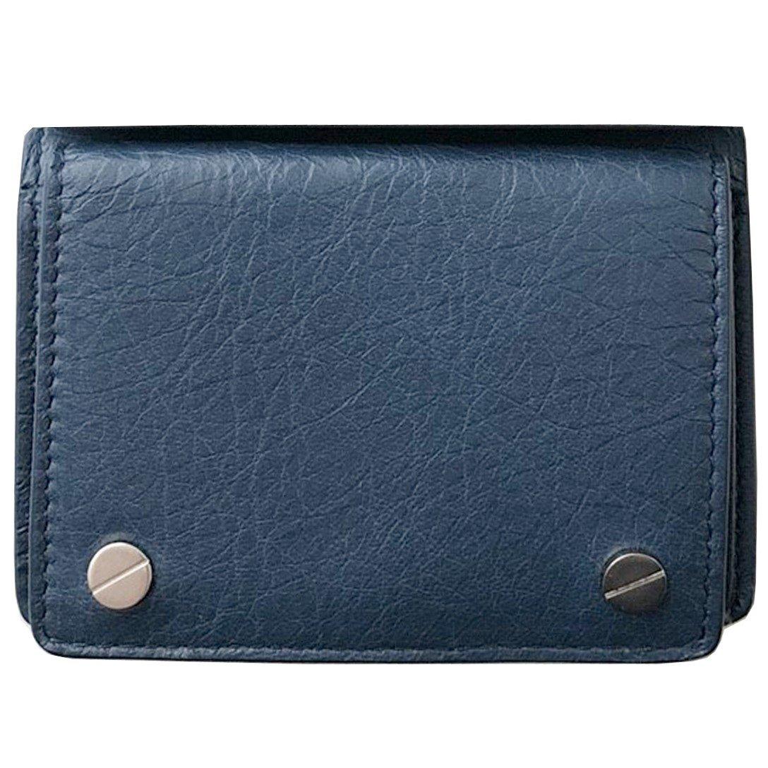 バレンシアガ BALENCIAGA メンズ 三つ折り ミニ 極小 財布 ウォレット mini wallet 直営店 ギフト包装 B07B9QR1CT ブルー ブルー