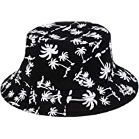 MagiDeal 100% Cotton Packable Summer Sunhat Travel Bucket Hat Wide Brim