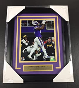 STEFON DIGGS #1 VERTICAL VIKINGS MINNESOTA MIRACLE THE CATCH 8X10 PHOTO FRAMED