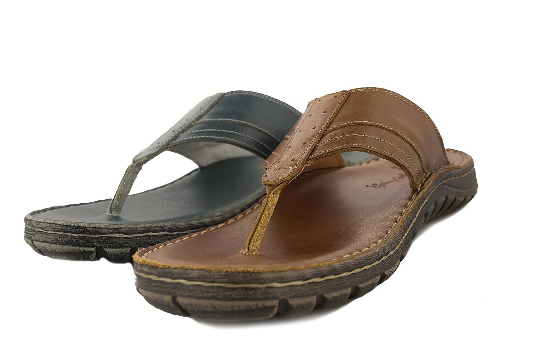 Zerimar Sandalen|Pantoletten Sommer Sandalen|Pantoletten Zerimar aus Leder Herren | Leder Sandalen | Qualitäts Sandalen Herren |Freizeit Schuhe Offen Hell Tan ad12bb