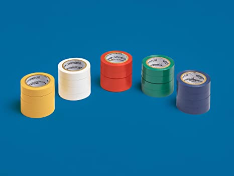20-Pack 1//2-inch by 6.66-yard Commercial Electrical Tape Multi-Color