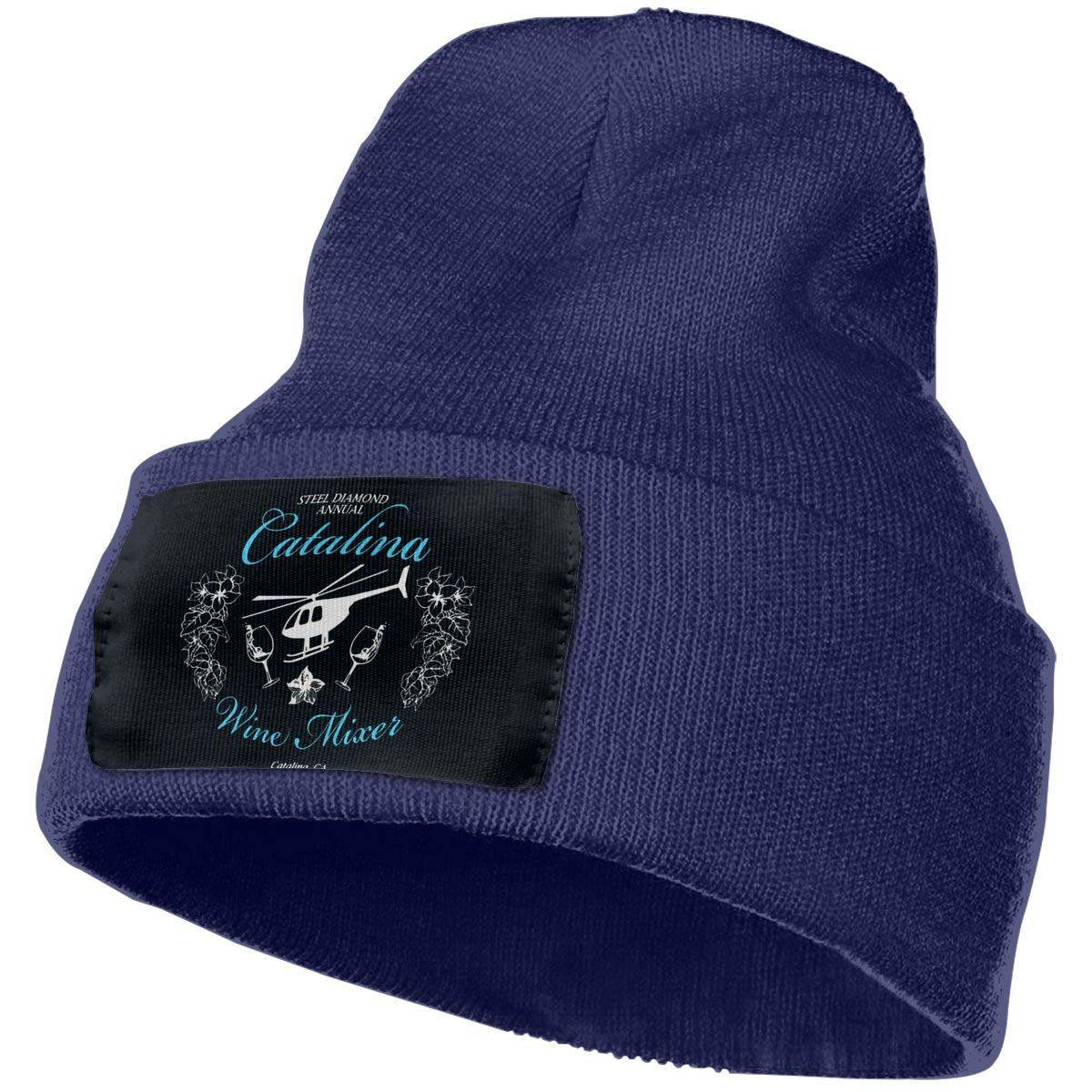 Catalina Annual Wine Mixer Winter Warm Hats,Knit Slouchy Thick Skull Cap Black