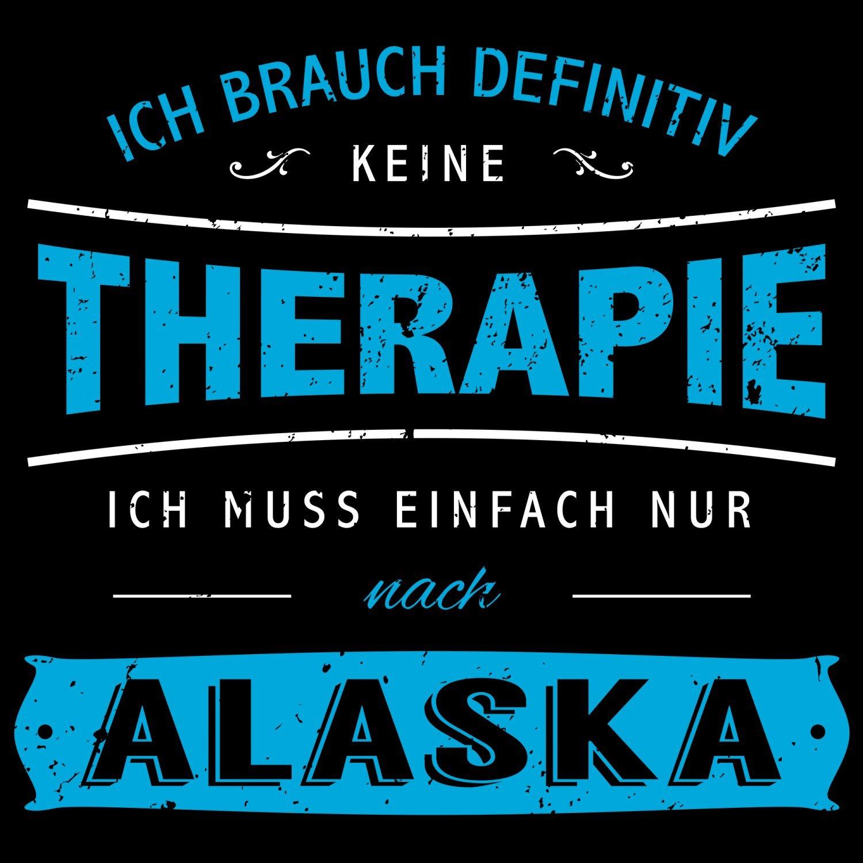 Fashionalarm Herren T-Shirt - Ich brauch keine Therapie - Alaska | Fun  Shirt Spruch Urlaub USA Nordamerika Anchorage Yukon Juneau Angeln Wandern:  Amazon.de: ...