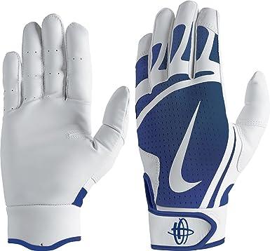 Nike Huarache Edge Youth Batting Gloves White//Black Youth Large