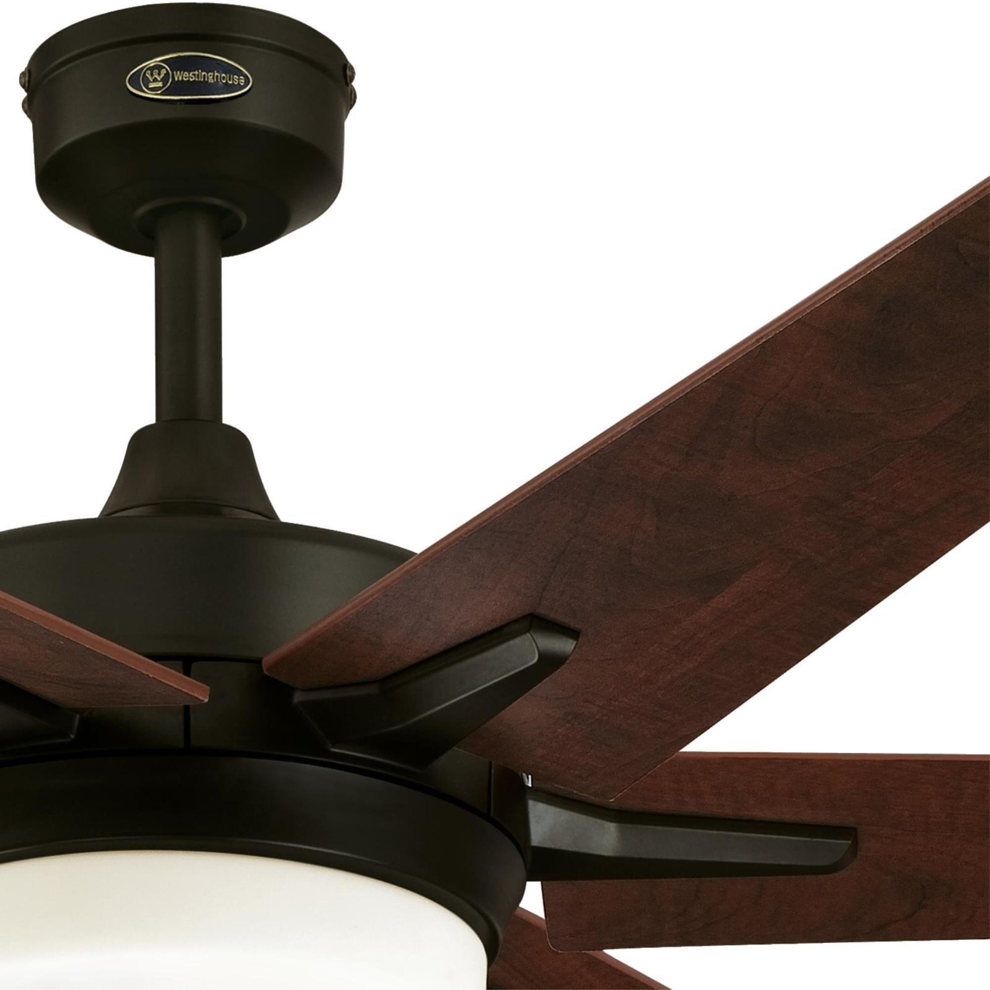 Westinghouse Lighting Remote Control Included 7207800 Cayuga 60-inch Oil Rubbed Bronze Indoor Ceiling Fan, Dimmable LED Light Kit with Opal Frosted Glass, by Westinghouse Lighting (Image #6)
