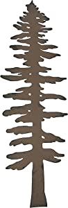 DeLeon Rustic Brown Finished Metal Pine Tree Wall Sculpture 16 Inches High