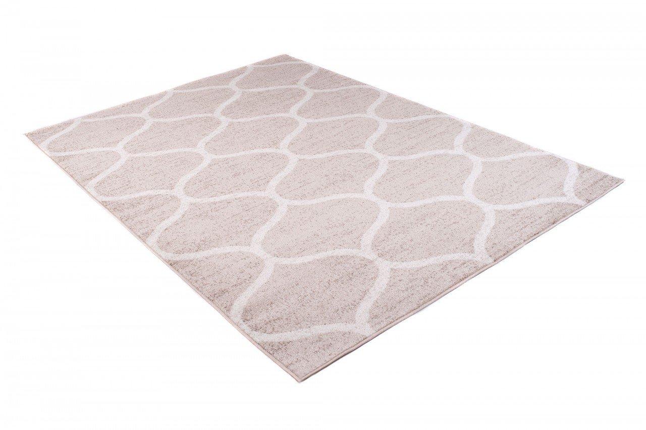 Tapiso Tapiso Tapiso Sari Teppich Kurzflor   Modern Teppiche in Creme Weiss mit Designer Geometrisch Marokkanisch Muster   Perfekt für Wohnzimmer, Gästezimmer   ÖKOTEX 160 x 220 cm B07CZ53BJH Teppiche ea97e5