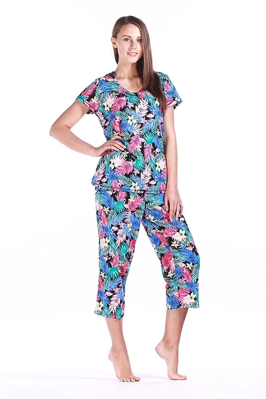 Amoy madrola Women Cotton Sleepwear Short Sets Pajamas Set SY215 larger  image 42f8e8022