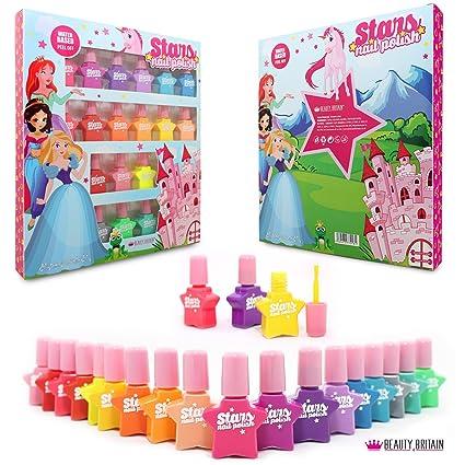 36 x Juego de esmalte de uñas No tóxico Basado en agua Despegar Botellas de plástico
