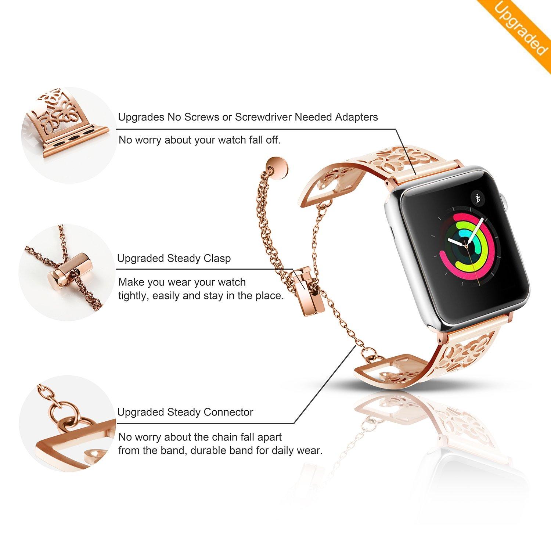Amazon.com: Para Apple Watch Banda de la mujer, cierre de ...